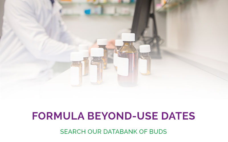 Explore our Formula Beyond-Use-Date (BUD) databank for Oral and Topical bases.